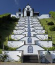 Little church at Azores Islands Royalty Free Stock Photos