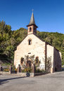 Little church in the mountain of france on a sunny day it s a vertical picture Stock Photography