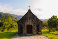 A little church in the mountains taiwan Stock Photo