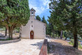 Little church old in istrien croatia Stock Photography