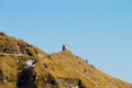 Little church on top of a peak. Italian alps Royalty Free Stock Photo