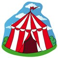 Little circus tent Royalty Free Stock Photos