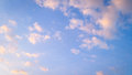 Little cloud and blue sky colour Royalty Free Stock Photo