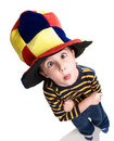 Little clown boy Stock Photography