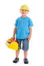 Little construction worker Stock Image