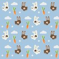 Little cony pattern with cute carrots