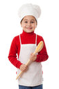 Little cook with ladle Royalty Free Stock Photo