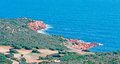 Little cove capo coda cavallo sardinia Royalty Free Stock Images