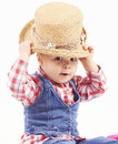 Little cowboy girl Royalty Free Stock Image