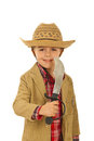 Little cowboy with sword Royalty Free Stock Image