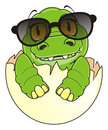 Little crocodile in sunglasses Royalty Free Stock Photo