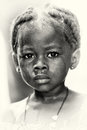 A  Little crying baby girl from Ghana Stock Photo