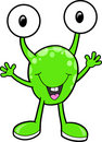 Little Cute Alien Monster Vector Royalty Free Stock Photo