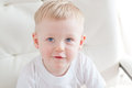 Little cute blue eyed boy looking up Royalty Free Stock Photos