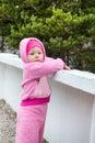 Little Cute Child Girl On Natu...