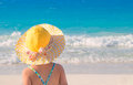 Little cute girl on beach Royalty Free Stock Photo