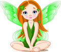Little cute green fairy for St. Patrick's Day Royalty Free Stock Image