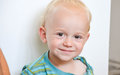 Little cute smiling  blond boy Royalty Free Stock Photo