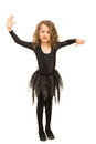 Little dancer girl exercising Royalty Free Stock Photo
