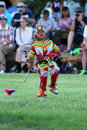 The little dancer powwow a native american during in indian village cheyenne frontier days Royalty Free Stock Photo