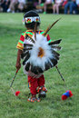 The little dancer powwow a native american during in indian village cheyenne frontier days Royalty Free Stock Images