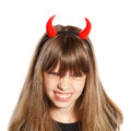 Little devil girl Royalty Free Stock Image
