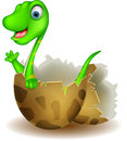 Little dinosaur birth vector illustration of Royalty Free Stock Images