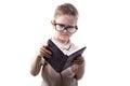 Little disagree boy reading book