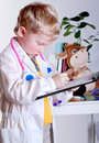 Little doctor with clip board