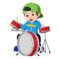 Little drummer cartoon Royalty Free Stock Photo