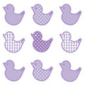 Little Duckies, Pastel Lavender Royalty Free Stock Image