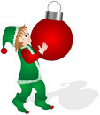 Little Elf, Big Ball Royalty Free Stock Image