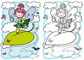 Little fairy for coloring Stock Photos
