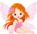 Little fairy illustration of sitting Royalty Free Stock Image