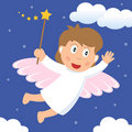 Little Fairy with Magic Wand Royalty Free Stock Image