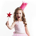 Little fairy with magic wand Royalty Free Stock Photo