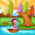Little fairy sailing boat Royalty Free Stock Photos