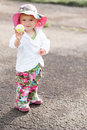 Little fashionable girl Royalty Free Stock Photos