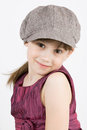 The little fashionista in cap and gown Stock Images