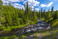 Little Firehole River near the Mystic Falls Royalty Free Stock Photo