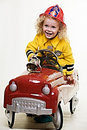 Little fireman Royalty Free Stock Photo