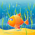 Little fish,vector illustratio Stock Photos