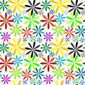 Little flowers seamless pattern extended Stock Photography