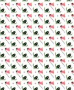 Little Flowers With White Background Seamless Pattern