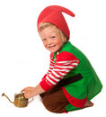 Little garden gnome Stock Photo