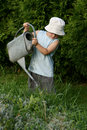 Little gardener boy Royalty Free Stock Photography