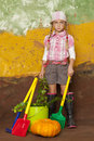 Little gardener girl Royalty Free Stock Photo