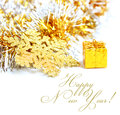 Little gift symbol with gold Stock Photo