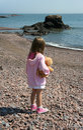 Little girl alone Stock Photo