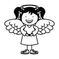 Little girl angel character